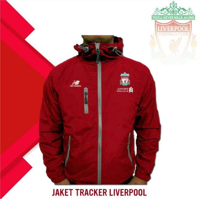 Jaket Tracker Bola Liverpool Waterproof