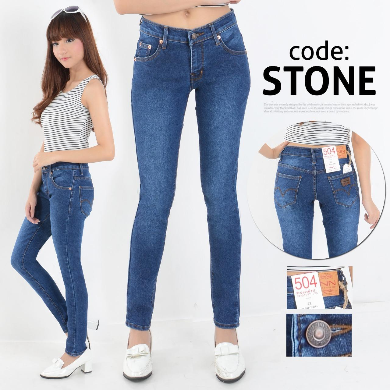 Celana Wanita Skinny Street Model Terbaru Berbahan Soft Jeans Bagus Murah  Jahitan Rapi e7fabd8668