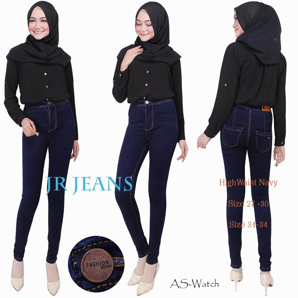 Jual Terbaru Celana Jeans Stretch Highwaist One Button Punny White Hw High Waist Black Premium Wanita Size 27 30 Jr Harga Murah Best Quality Biru Dongker Ly