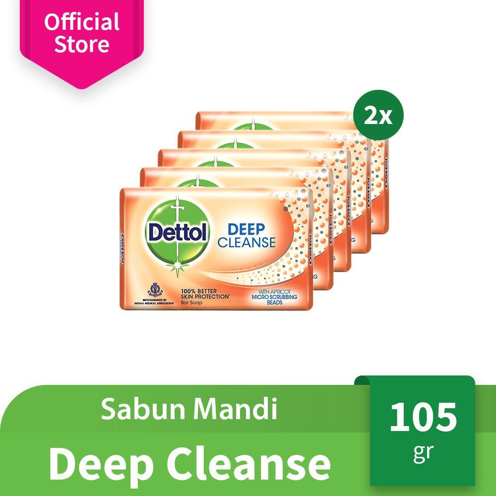 Dettol Sabun Mandi Batang Deep Cleanse - Isi 10 pcs x 105 gr