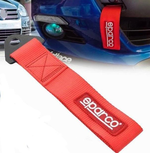 Towing Strap Sparco Merah Universal By Team Modifikasi.