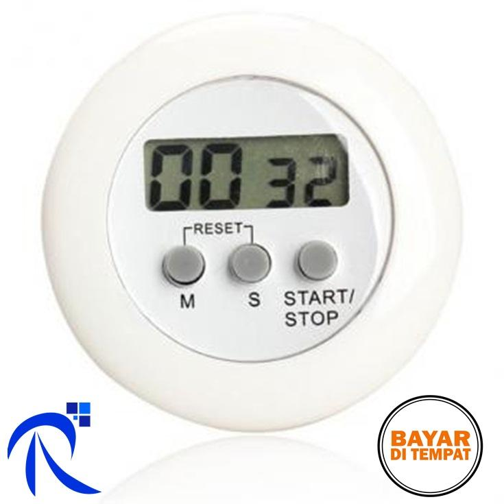 Rimas Timer Masak Dapur 5 Color Digital Alarm Minimalis Time Machine - White/Putih -