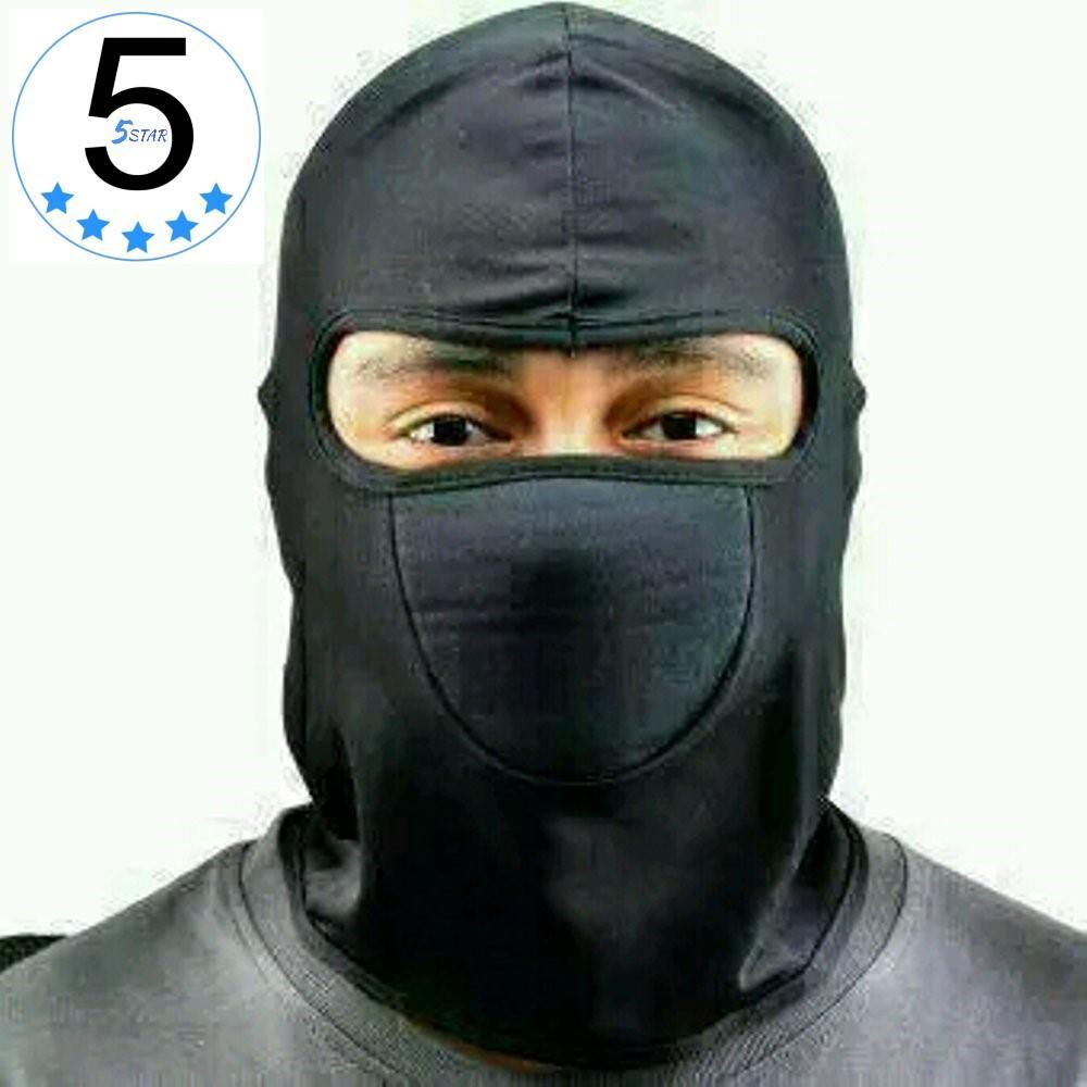 Sarung Kepala Helm Motor / Masker Ninja Anti Debu / Topeng Ninja Sepeda Motor / Cover