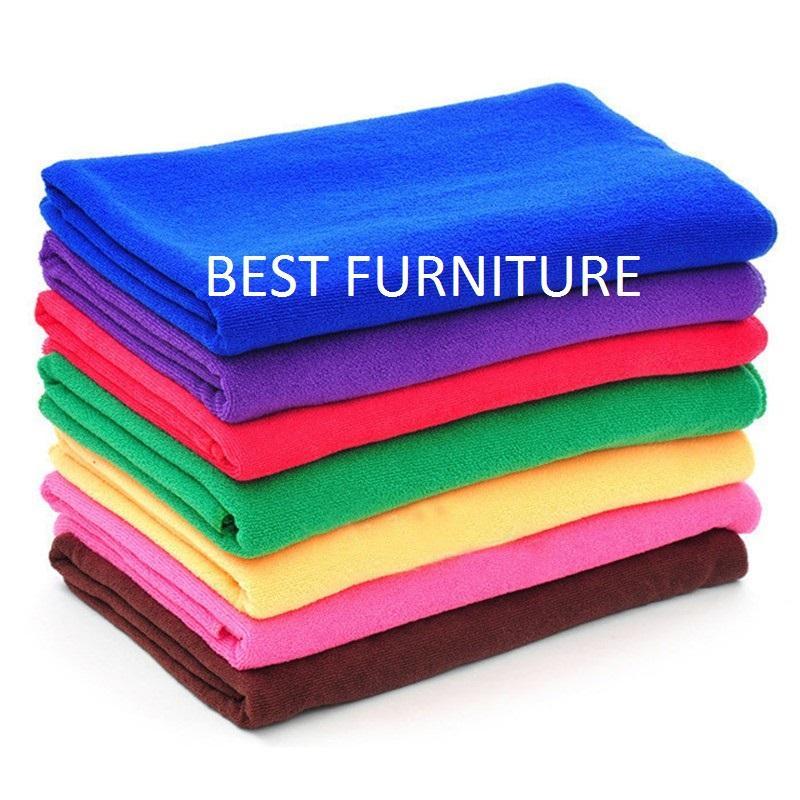 Best Furniture Handuk Mandi Polos Microfiber Dewasa Anak Uk 70x140 - Random By Best Furniture.