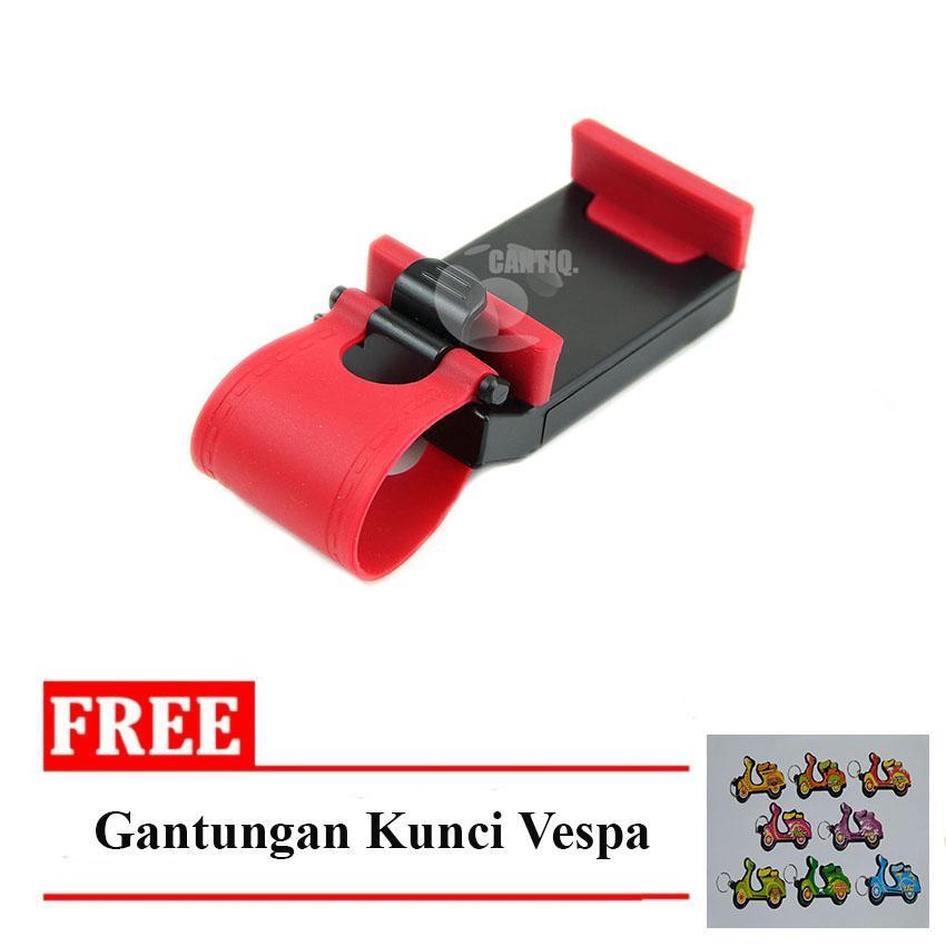 Icantiq Car Steering Wheel Smartphone Holder / Phone Holder Stir Mobil / Tatakan Handphone di Mobil