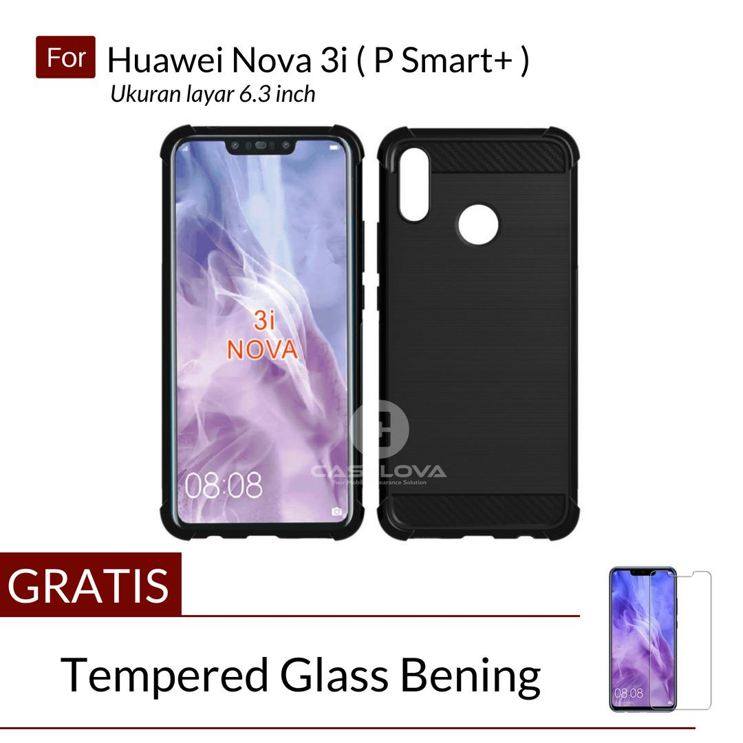 Caselova Corner Protection Cushion Premium Carbon Shockproof TPU Case For Huawei Nova 3i ( P Smart+