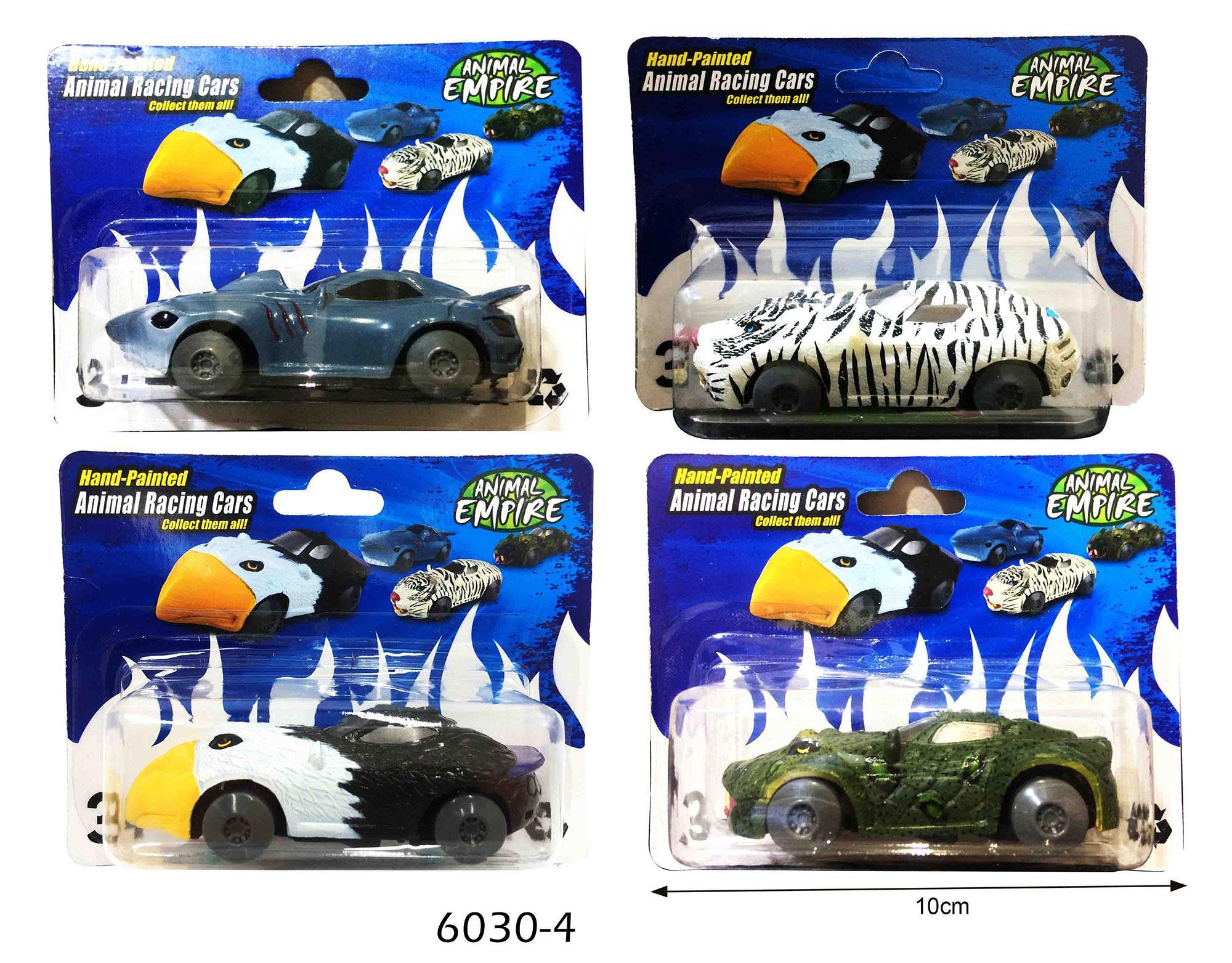 (SET ISI 4PCS) + (FREE PACKING KERTAS KADO) RKJ Mainan Anak Koleksi Mobil Animal 6030