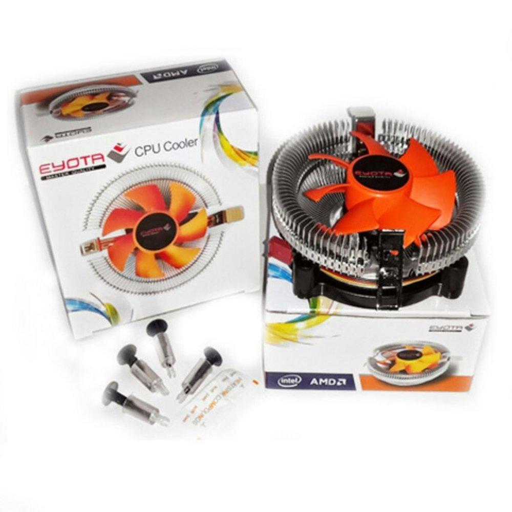 Eyota Fan Processor CPU Komputer Universal  Socket Intel atau AMD / Eyota CPU Cooler warna Orange