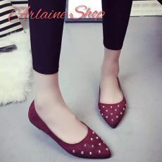 Arlaine Amor Flat Shoes [Maroon]