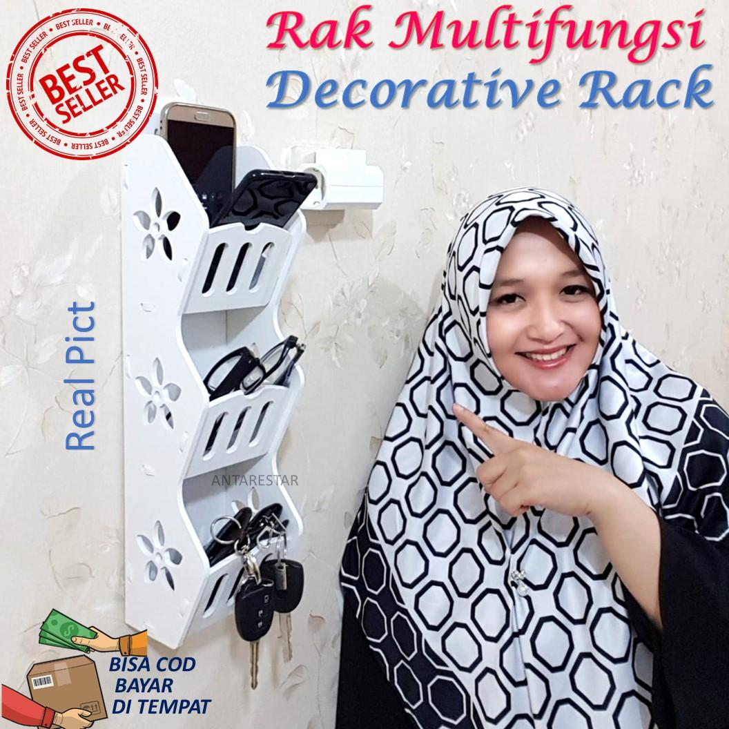 Buy Sell Cheapest Obrall Rak Dinding Best Quality Product Deals Dapur Storage Decorative Rack Untuk Hp Remote Multifungsi Tempat Charge Casan