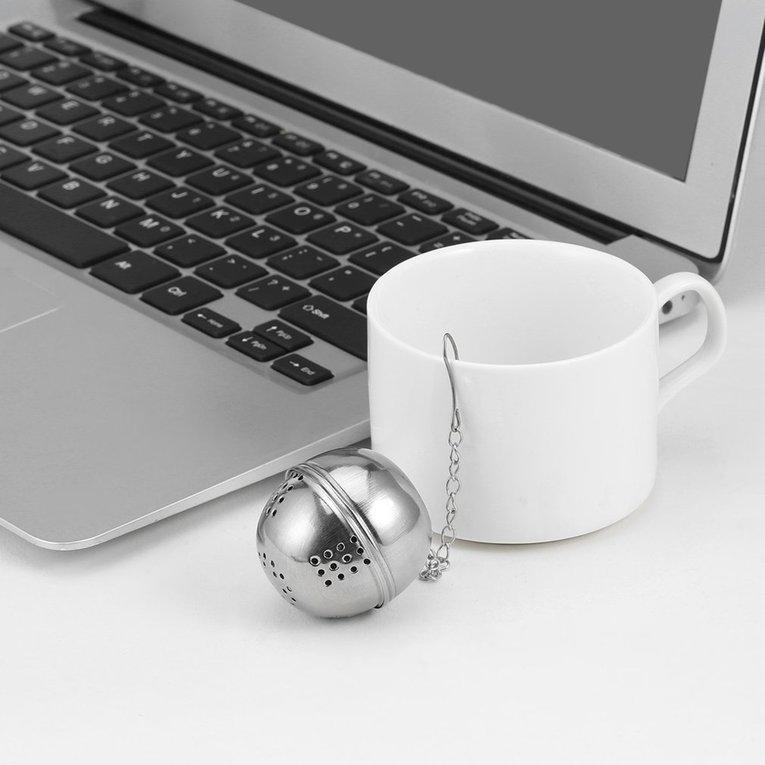 Jiehaosheng estore Silver Stainless Steel Teakettles Strainer Tea Locking Spice Egg Shaped Ball