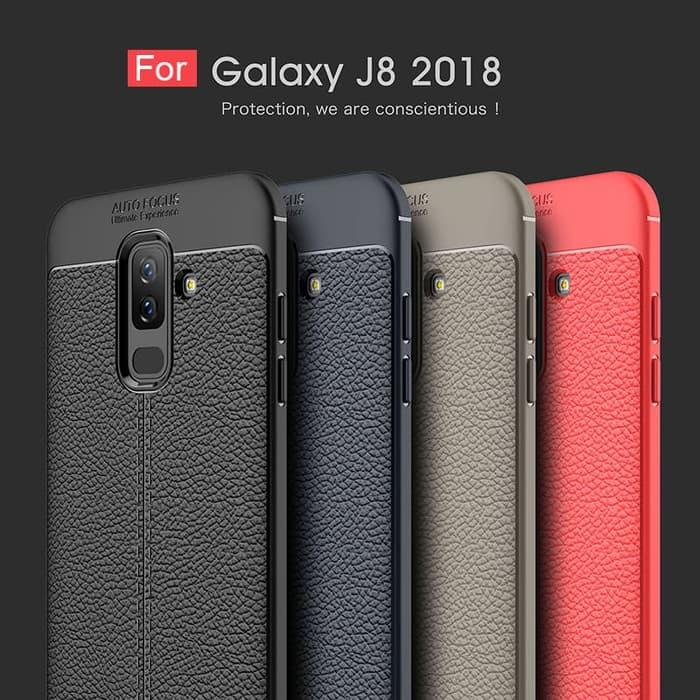 SAMSUNG GALAXY J8 2018 Case Auto Focus Leather Softcase / Casing