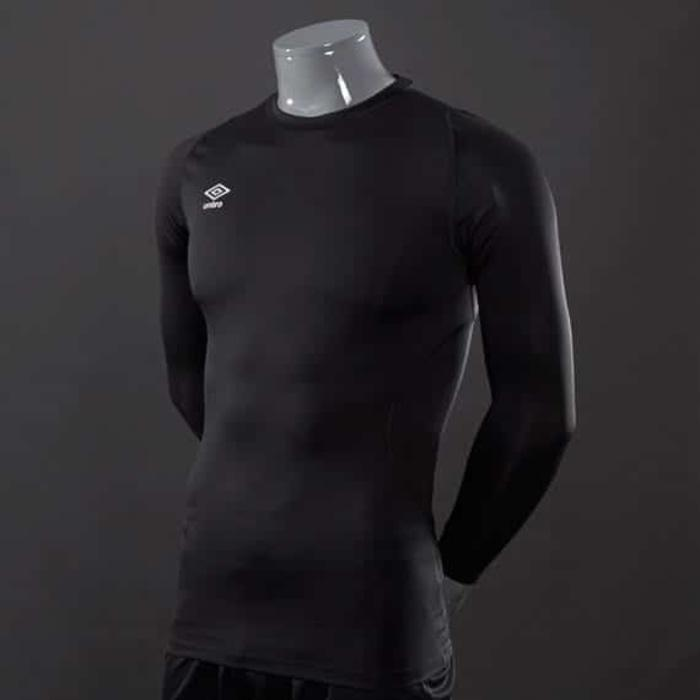 Best Seller - Manset Baselayer UMBRO Lengan Panjang HITAM JR SH