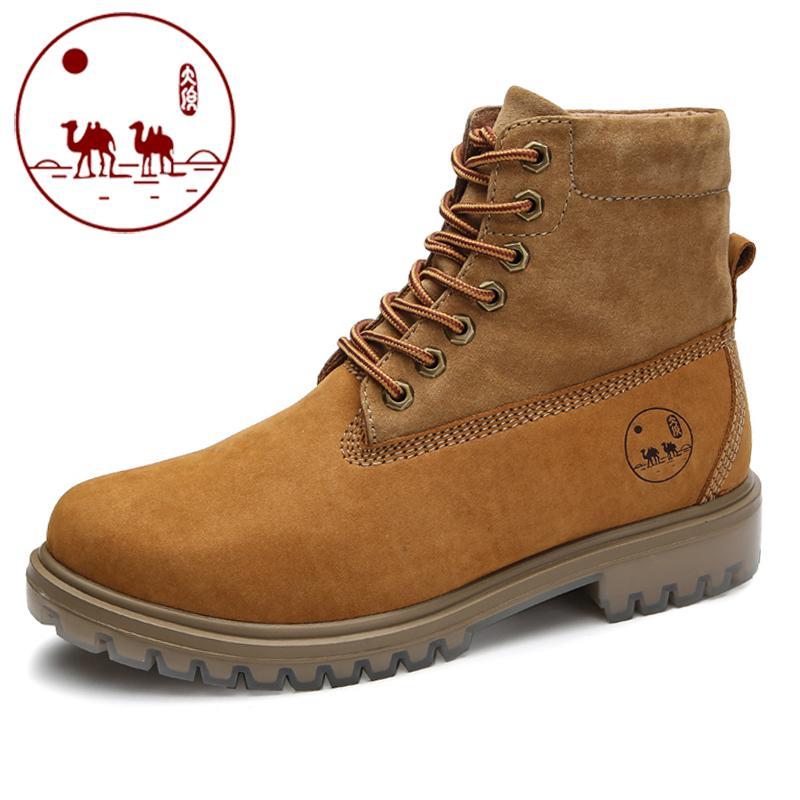 Musim Gugur Dan Musim Dingin Kota Camel Sepatu Boots Pria Dr. Martens  (Coklat Kekuningan af62398eb7