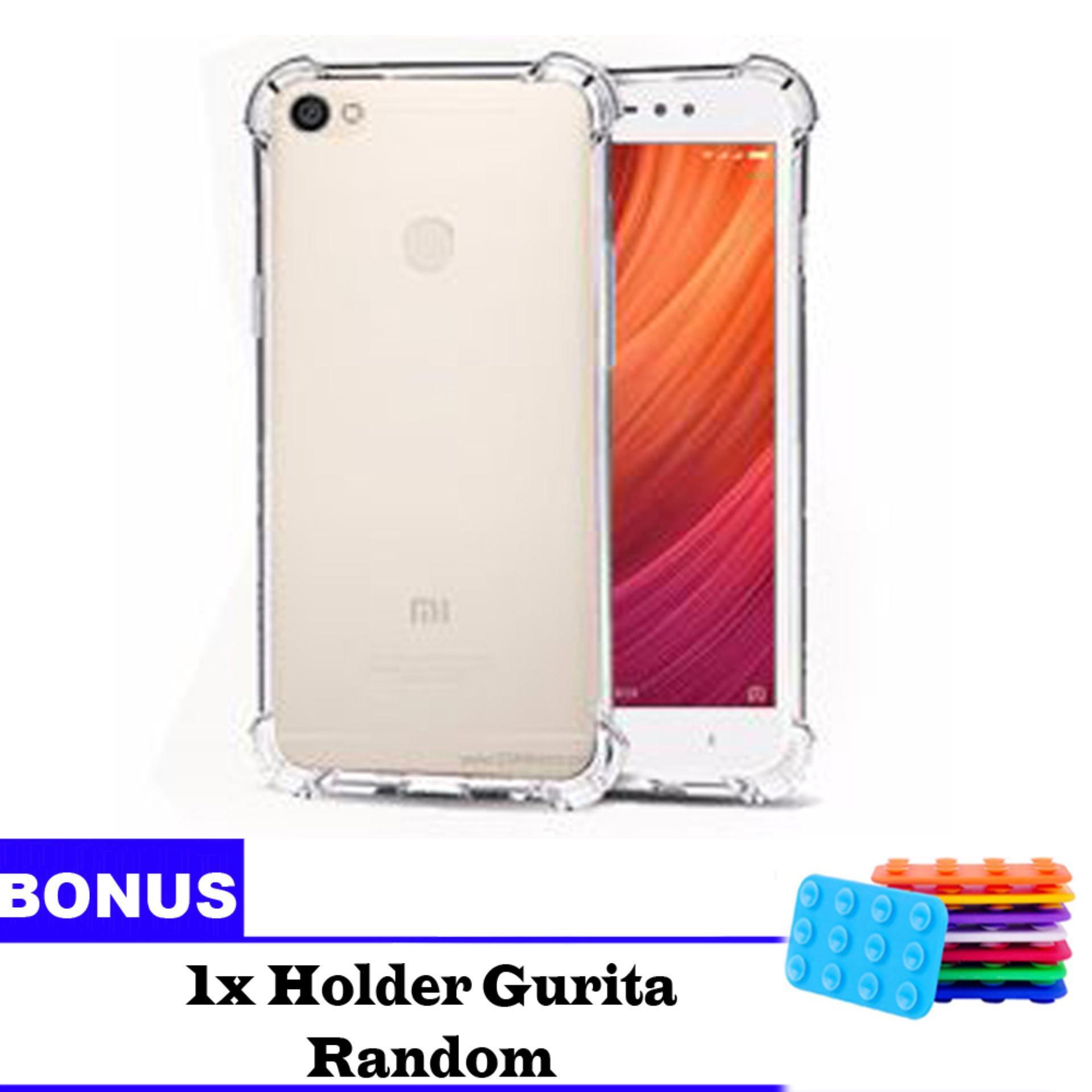 Jak Shop Soft Case Anti Crack / Anti Shock Case Xiaomi Redmi Note 5A Finger Print 4G / Case Hp - Clear  Bonus Holder Gurita
