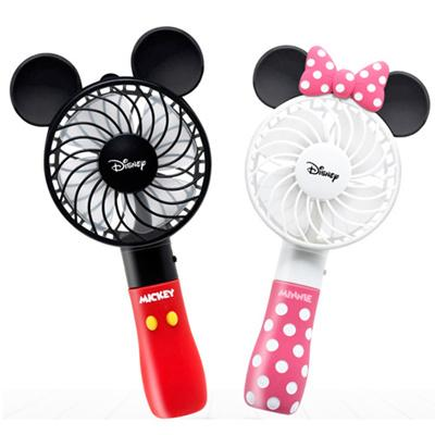 Kipas angin portable mini karakter Mickey Minnie mouse Rechargeable