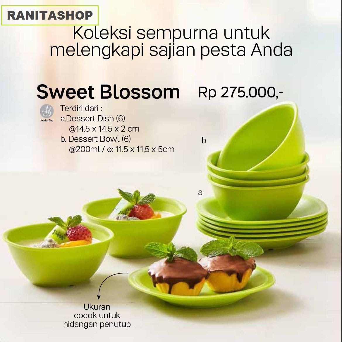 Tupperware Sweet Blossom - Dapat 1 set isi 12pcs - GRATIS ONGKIR seluruh pulau jawa - toko RANITASHOP