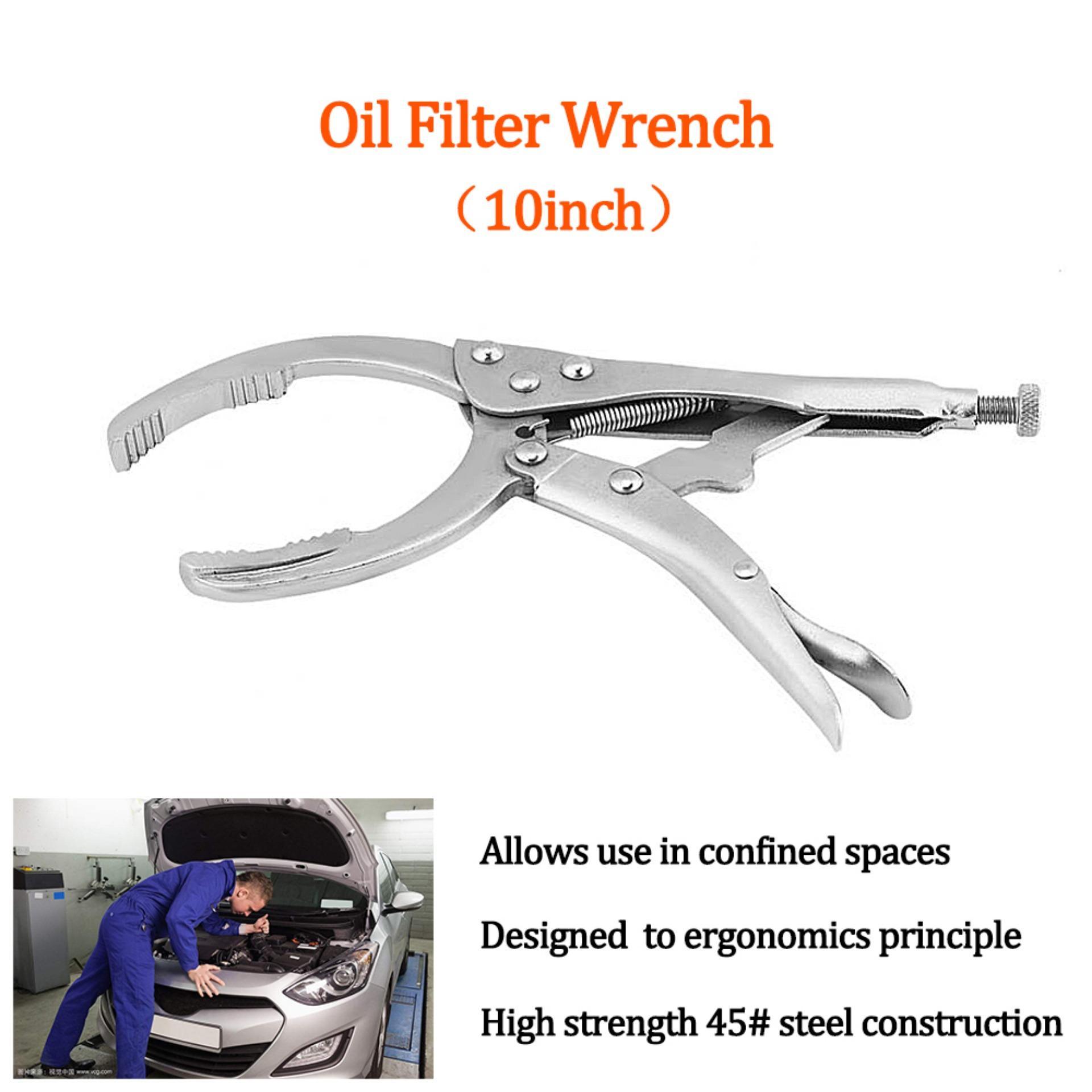 10 Inch Kendaraan Mobil Universal Adjustable Filter Oli Kunci Tang Kunci Pas Alat Pembongkar-Intl