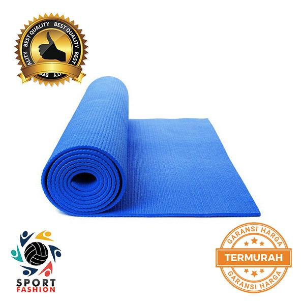 SPORTFASHION MATRAS YOGA - YOGA MAT - PILATES MAT - 6MM BIRU + GRATIS YOGA BAG