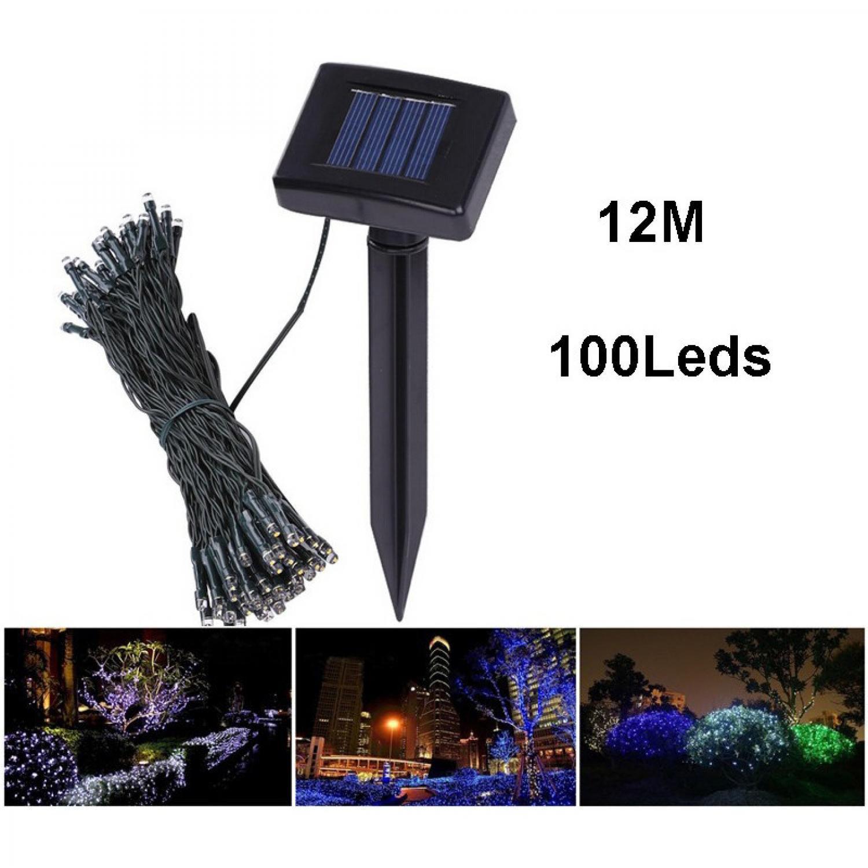 Solar Powered Garden Decoration Light 100 LED / Lampu Hias Taman Tenaga Matahari