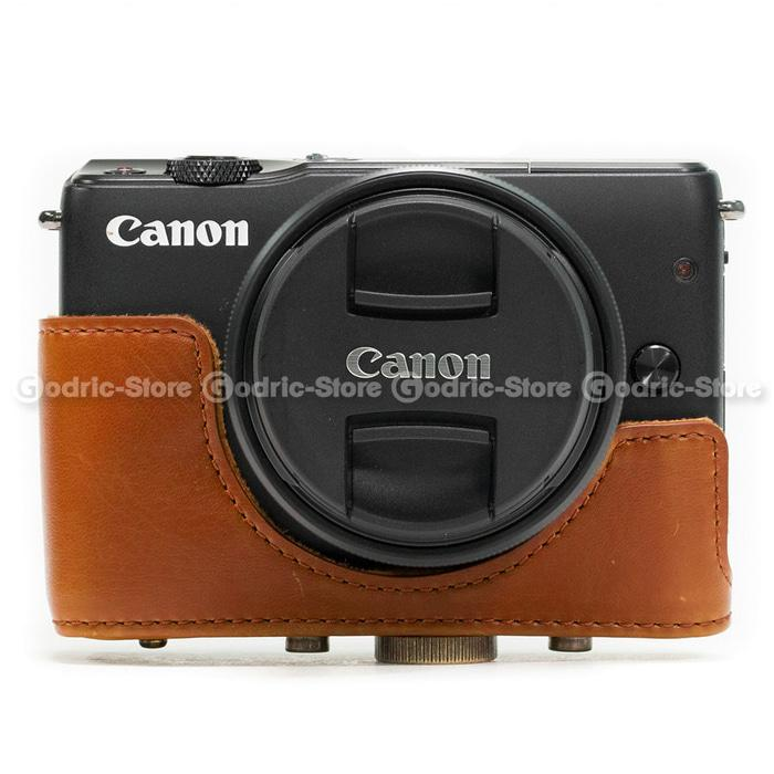 Promo Canon EOS M10 Leather Bag / Case / Tas Kamera Kulit 15-45  / 18-55 MM original