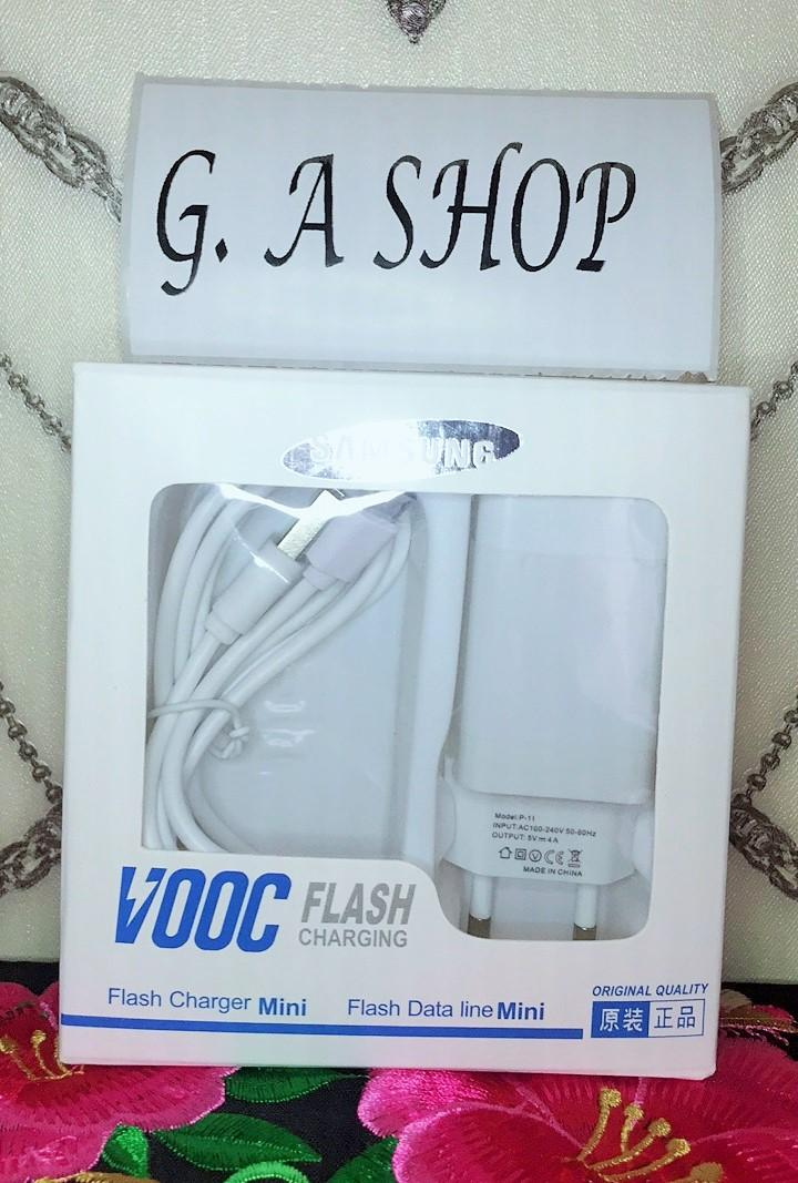 Charger Samsung VOOC FAST CHARGING Adaptor 4 Ampere 2 Port ORI 99%