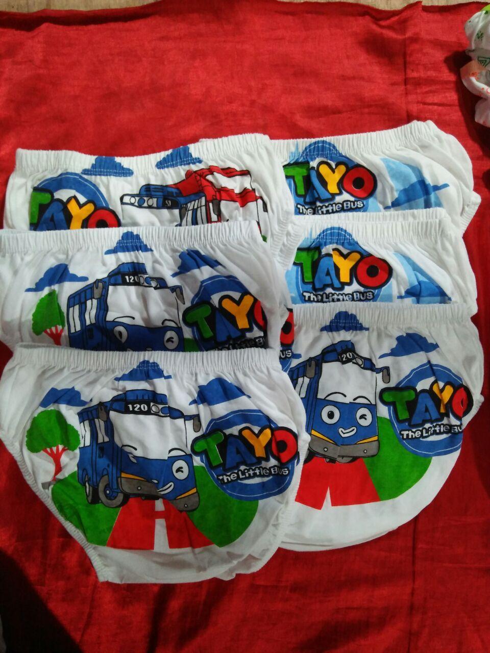 Buy Sell Cheapest Tayo L Biru Best Quality Product Deals Boneka Mobil Besar Ukuran Xl Ciput 6 Pcs Celana Dalam Anak Laki Size