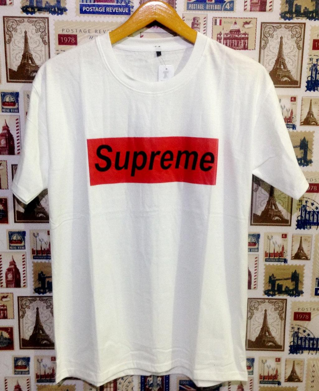 PERSIDENT STORE - Kaos Distro T-Shirt Distro Fashion 100% Soft Cotton Combed 30s Kaos Pria Kaos Fashion Baju Distro T - Shirt Gambar: Supreme Putih Marvel ...