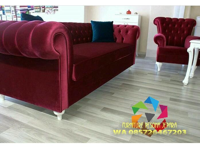 Kursi sofa chester set 3-1 , sofa keluarga. PESONA JEPARA 46