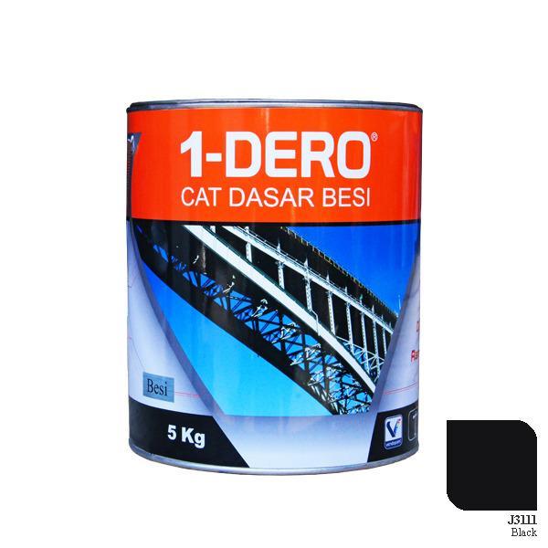1-DERO, CAT DASAR BESI / ZINC CHROMATE, BLACK, 5 KG