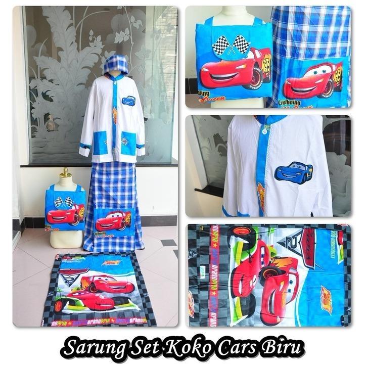 Sarung Koko motif kartun c,  Biru (Size M)