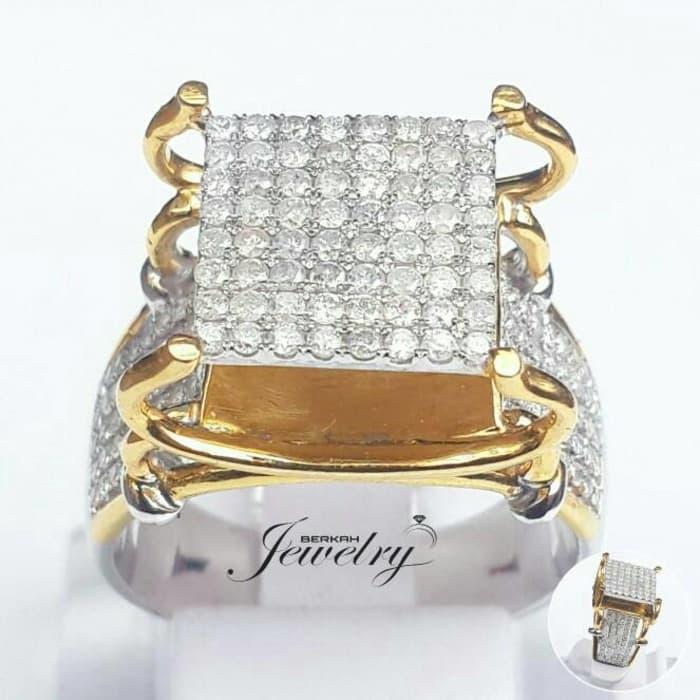 Cincin Berlian Eropa Natural Diamond Ring Emas Fashion Nikah Kawin