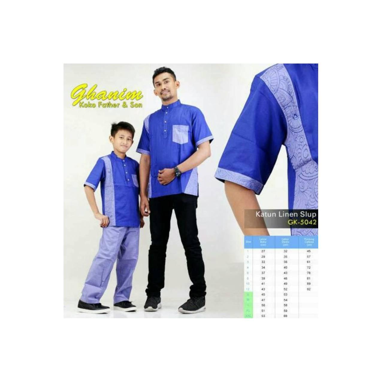 BIGSALE Baju Koko Ayah Dan Anak Pria Couple Pasangan Bordir Seri0030