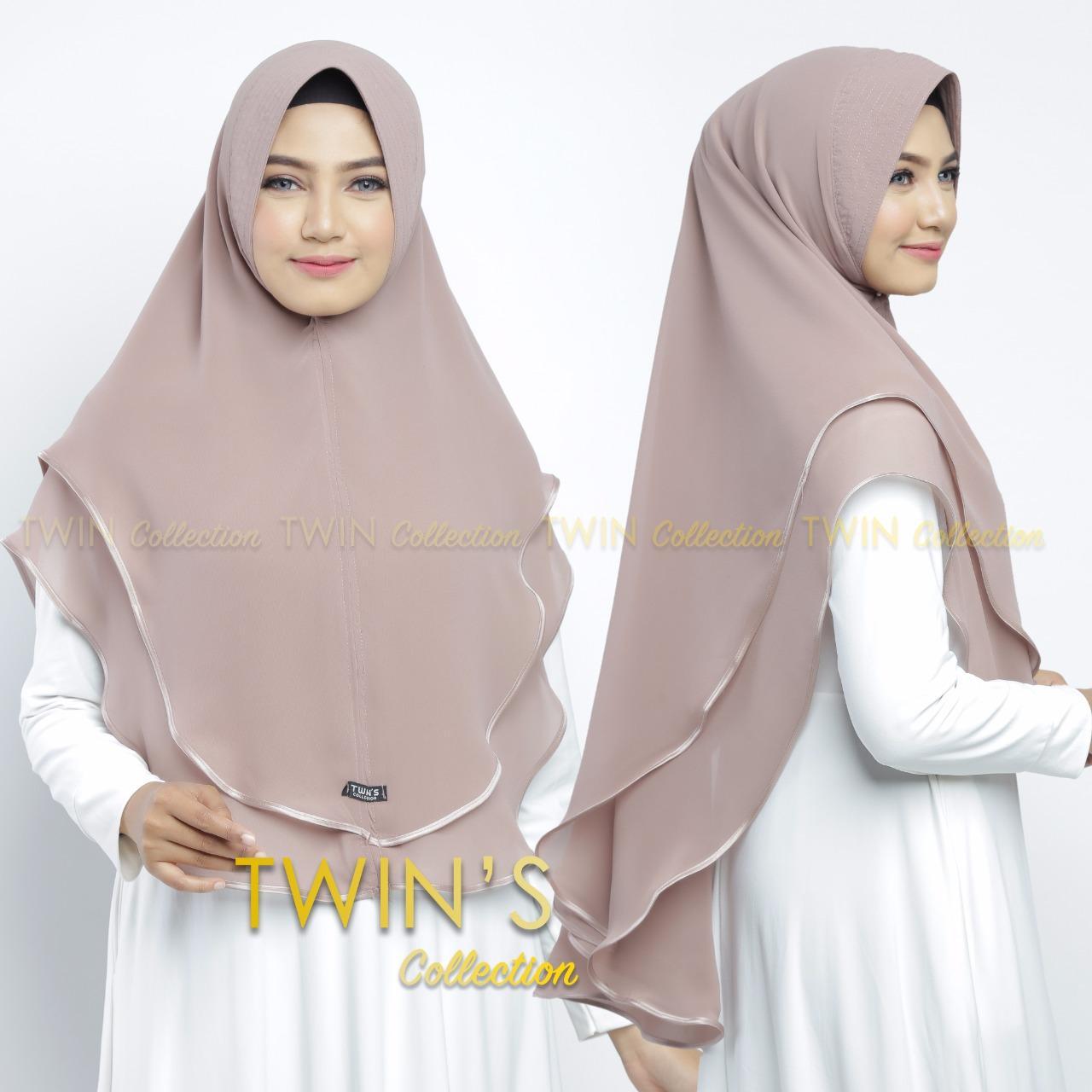 Kerudung   Hijab Jilbab Instan twints undak 2 pita Model Bergo terbaru  termurah dan Terlaris bd2f278405