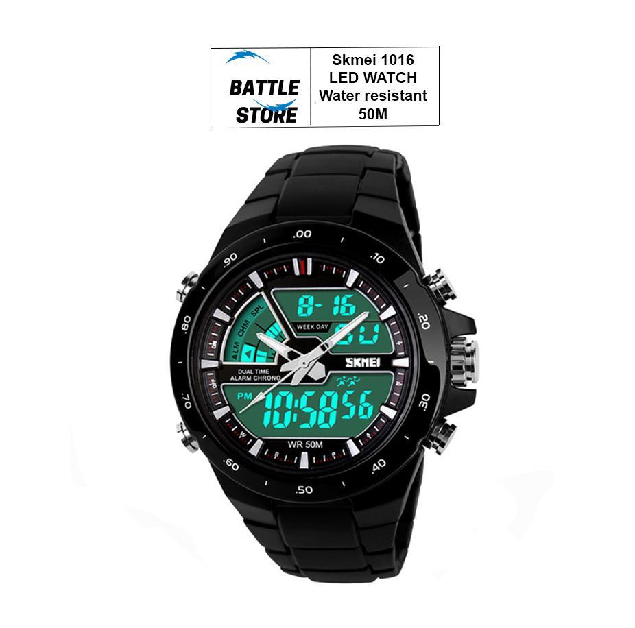 Rp 85.000. SKMEI 1016 Jam Tangan Skmei Pria Olahraga Tahan Air Analog Digital LED Multifungsi Waterproof Sports Men Watch ...