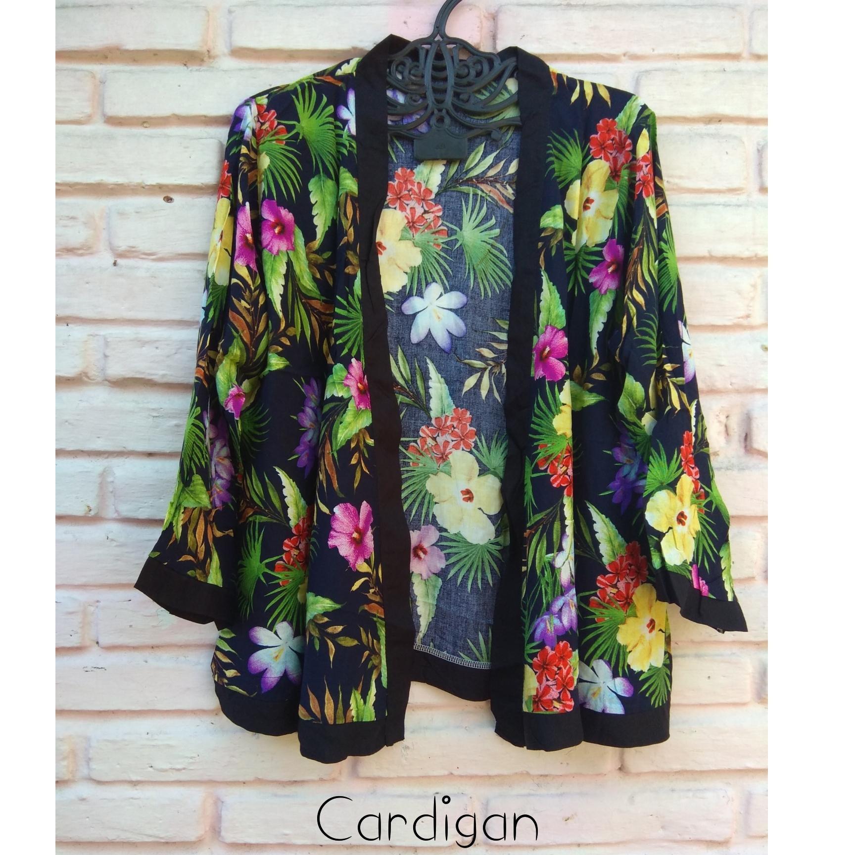 kanaya - cardigan wanita tribal bunga baju bali murah
