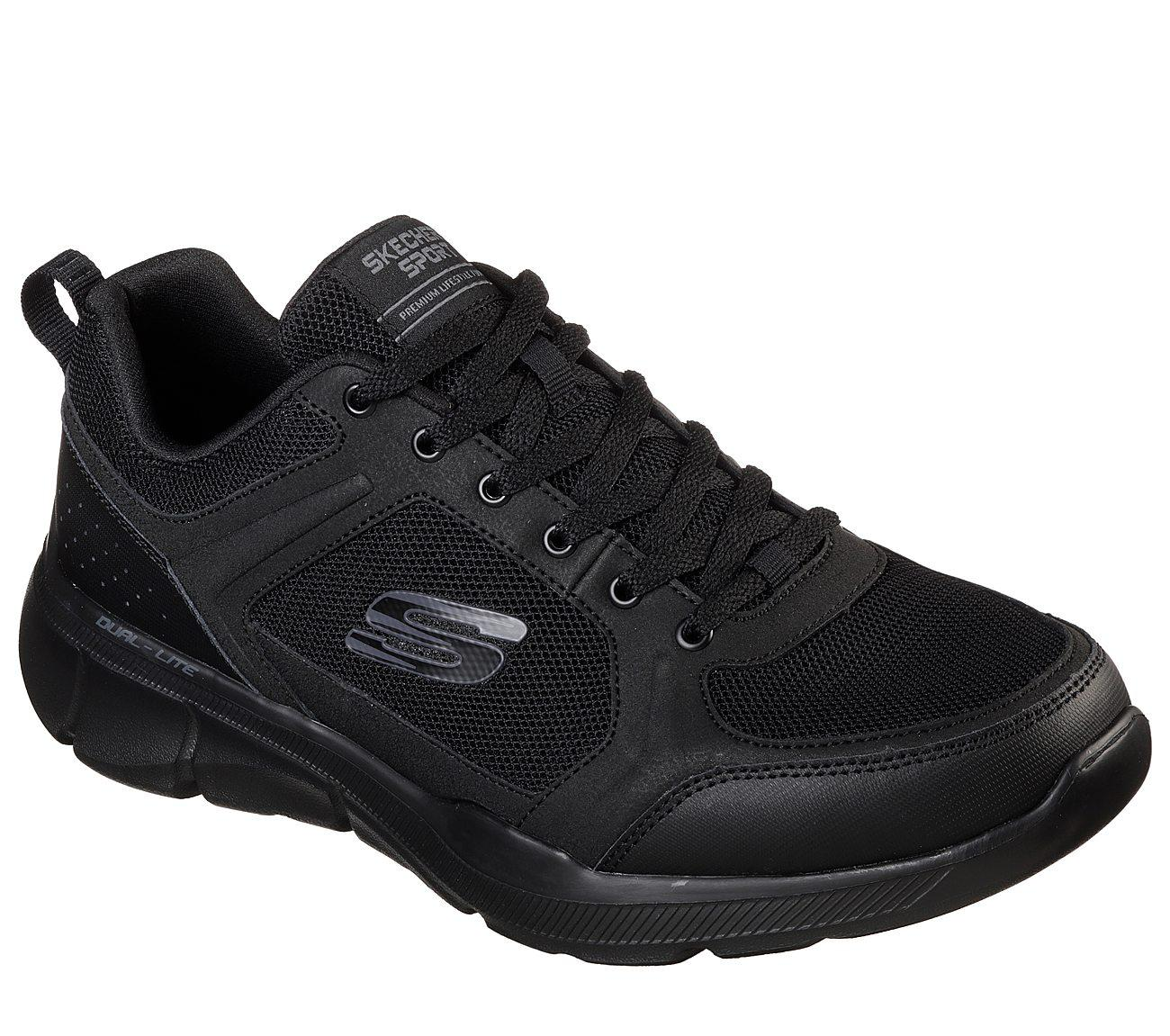 Skechers - Relaxed Fit  Equalizer 3.0 - Deciment Sepatu Sneakers Pria -  Hitam b7127725a8