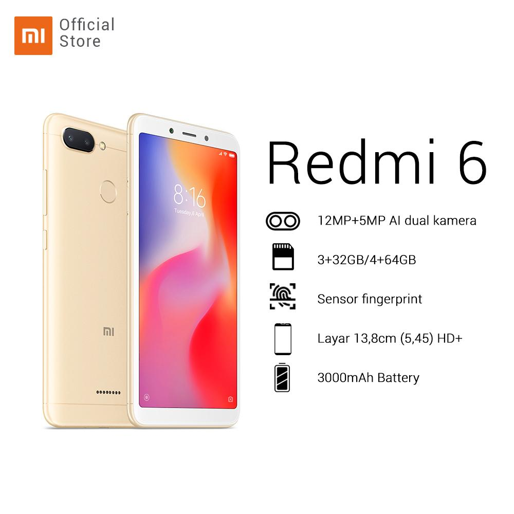 Redmi 6 4/64GB + dual camera 12MP + 5MP  HD 5,45