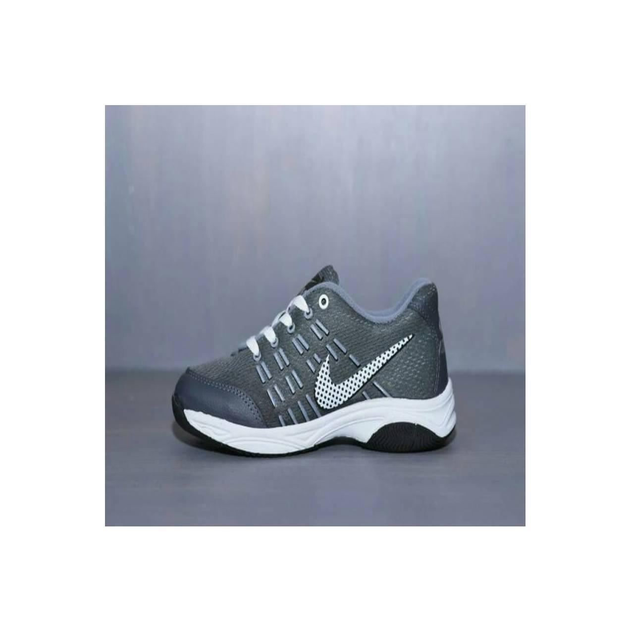 Sepatu Sport Nike Airmax 2016 Abu Abu / Olahraga Jogging Badminton