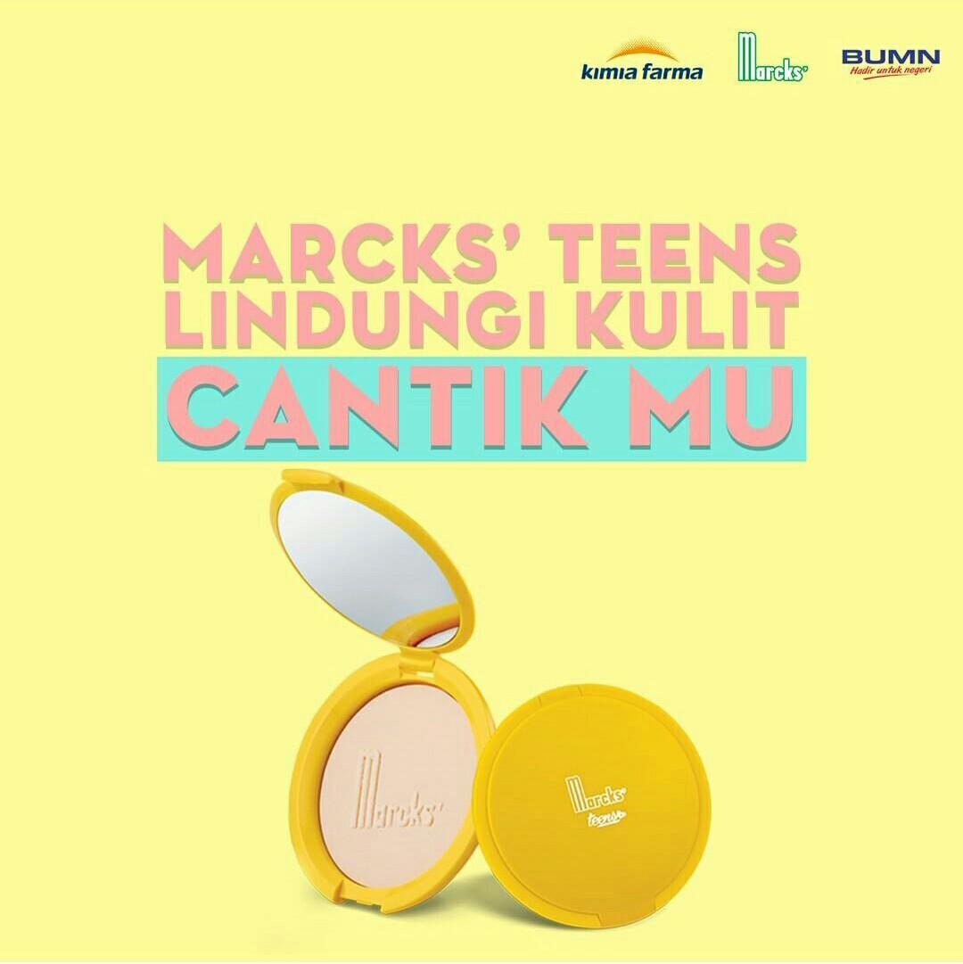 Marcks Teens Compact Powder Pink - 12 g