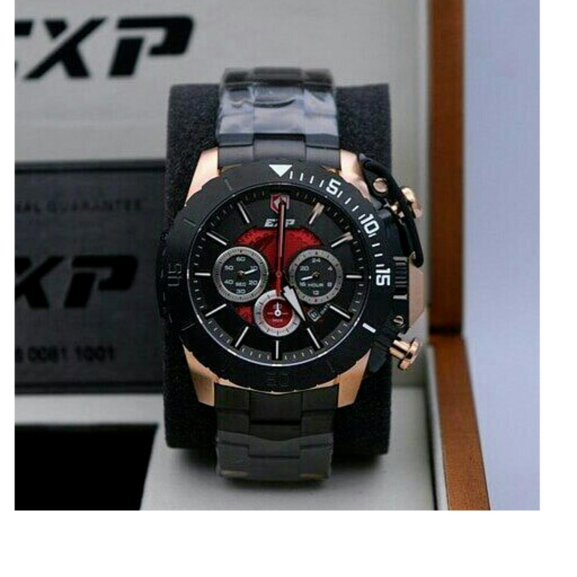 Buy Sell Cheapest Exp Expedition Best Quality Product Deals 6728 Jam Tangan Pria Rosegold Hitam Original 3002 Black Red