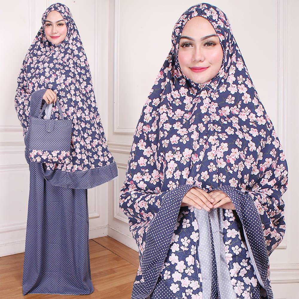 MLVR-COD peralatan solat mukena dewasa rayon muslim perlengkapan sholat mukenah hijab rayon motif