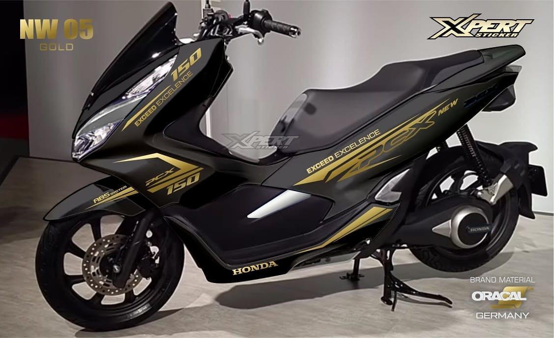 Cutting sticker sticker striping - for Honda PCX - Lazada - Gold