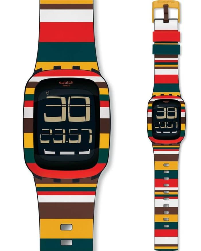 Jam Tangan SWATCH ORIGINAL 100⎕URB122 Tendone MultiColor TouchScreen