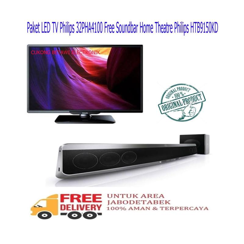 Paket LED TV Philips 32PHA4100 Free Soundbar Philips HTB-9150KD-KHUSUS JABODETABEK