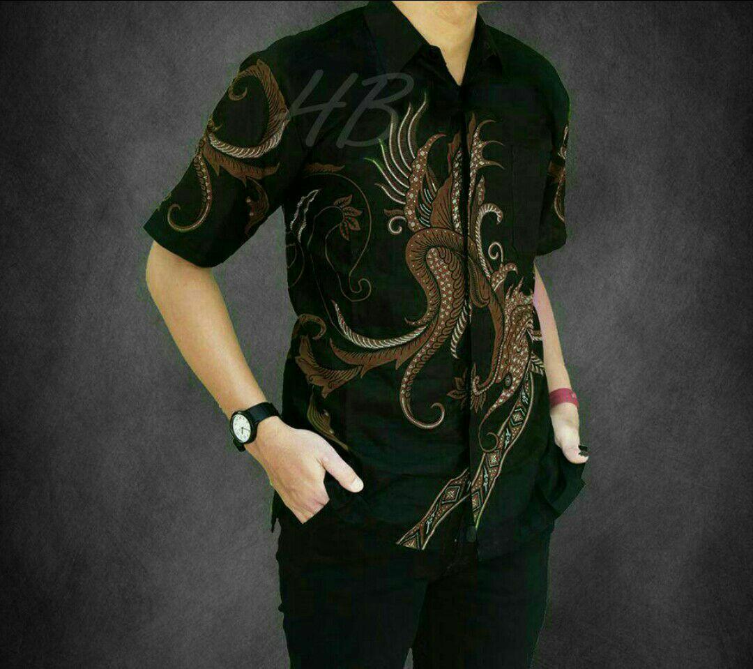 Jual Baju Batik Pria Baju Batik Modern Kemeja Batik Pekalongan Hem Batik Kemeja Motif ARJUNA COKLAT