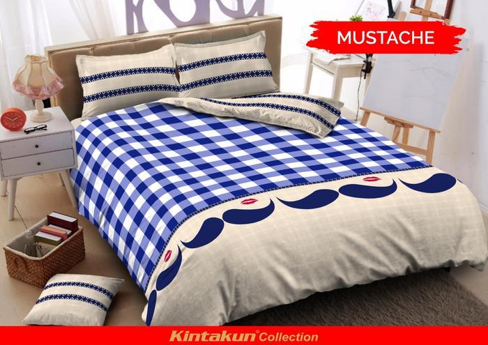 Motif Mustache Wiring Source · BED COVER SET KINTAKUN DLUXE KING 180X200 NO .