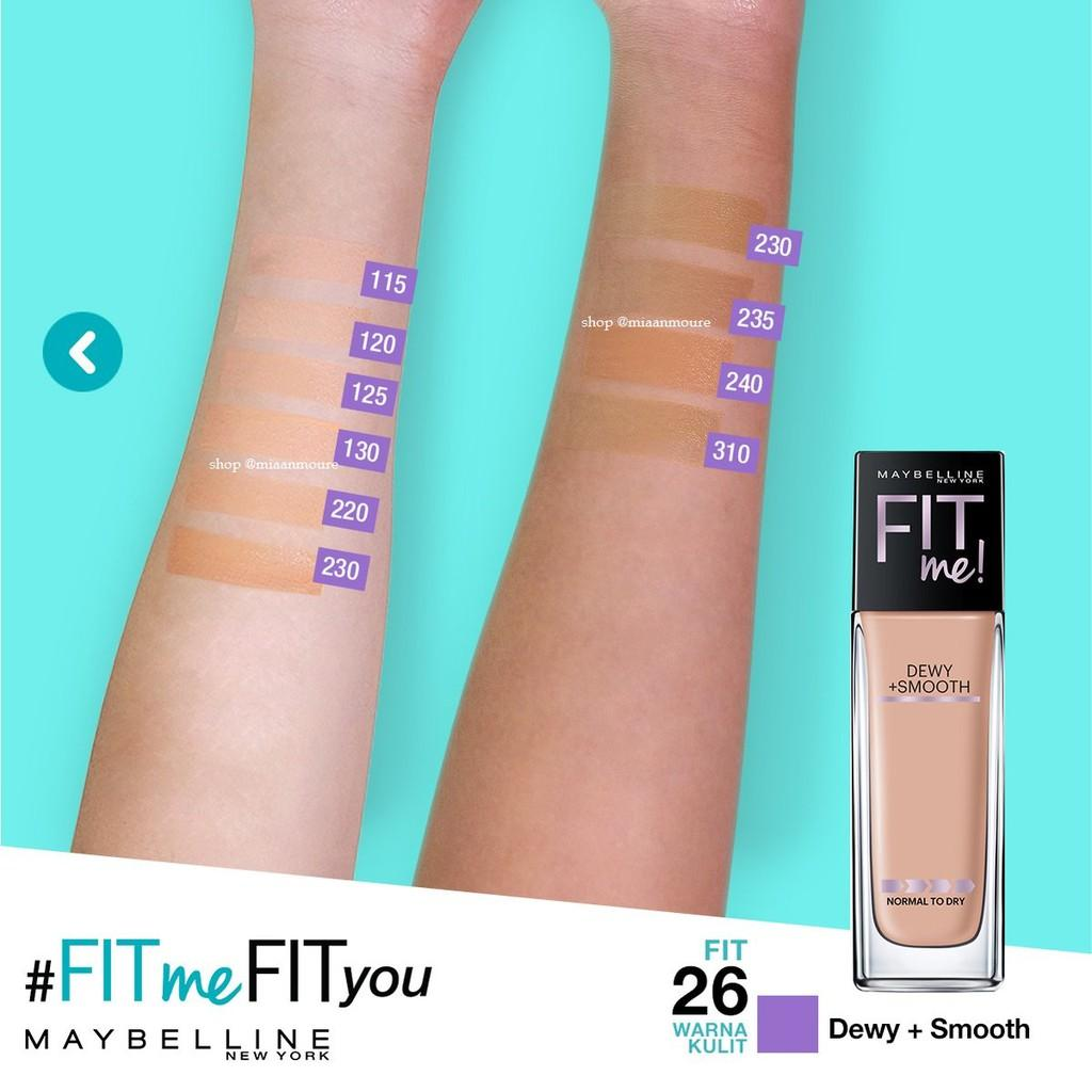 Maybelline Fit Me Dewy and Smooth Foundation 230. Natural Buff