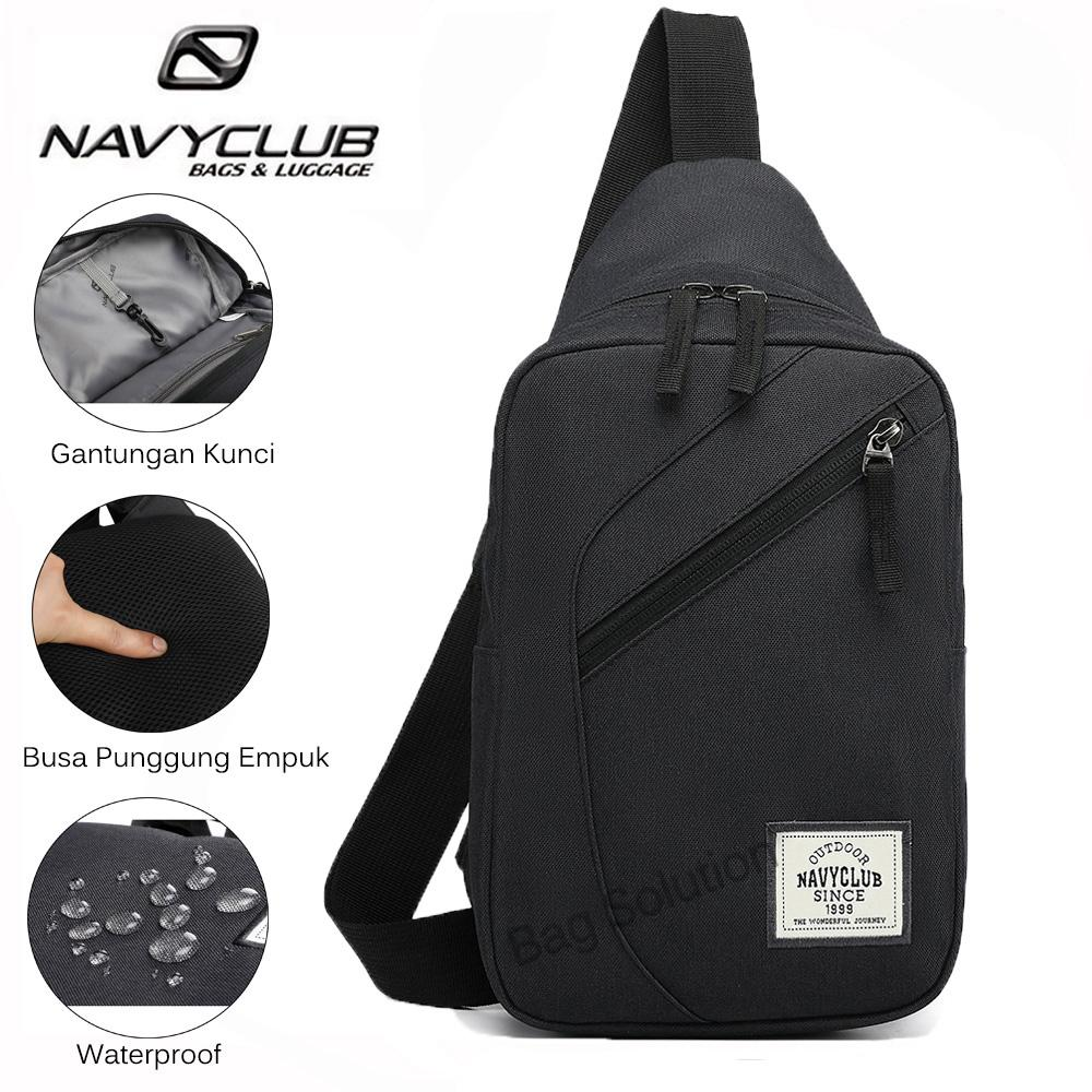 Navy Club Tas Selempang Travel - Tas Punggung Tahan Air - Sling Bag Tas Pria Tas