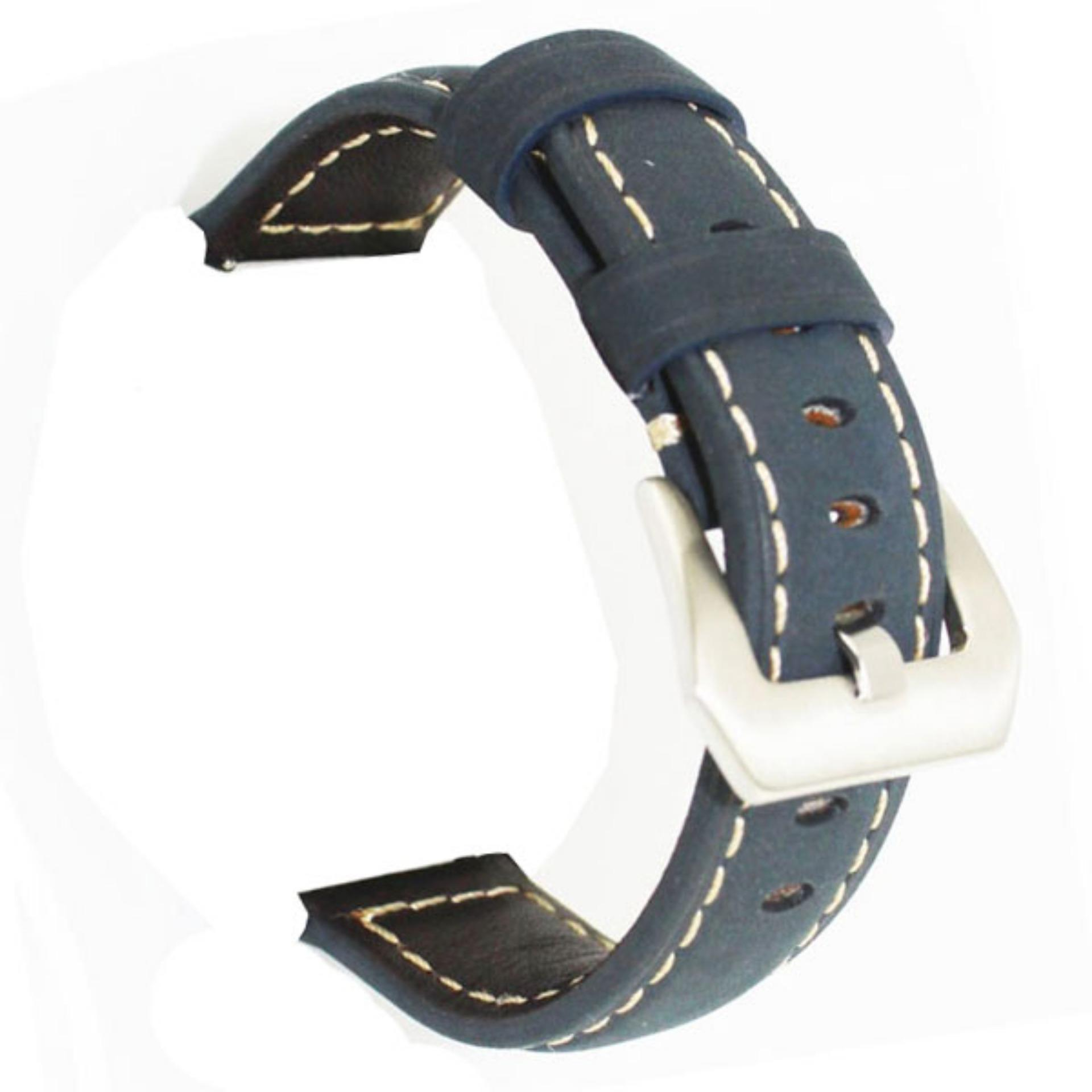 LOLLYPOP Vintage Leather Strap For Samsung Galaxy Gear S3 - Navy